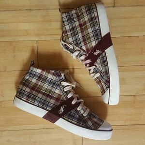 Polo  By Ralph Lauren  High Top Sneakers